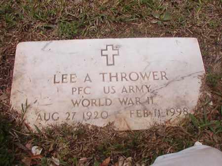 THROWER (VETERAN WWII), LEE A - Calhoun County, Arkansas | LEE A THROWER (VETERAN WWII) - Arkansas Gravestone Photos