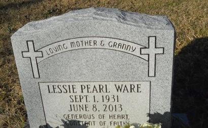 WARE, LESSIE PEARL - Calhoun County, Arkansas | LESSIE PEARL WARE - Arkansas Gravestone Photos