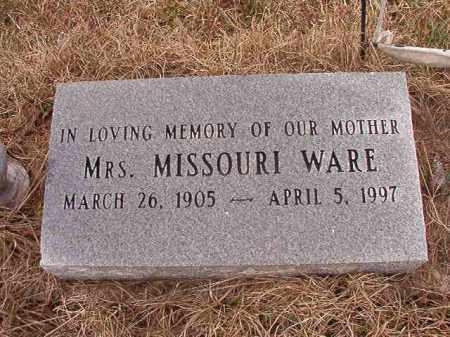 WARE, MISSOURI - Calhoun County, Arkansas   MISSOURI WARE - Arkansas Gravestone Photos