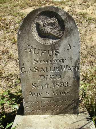 WARE, RUFUS J - Calhoun County, Arkansas | RUFUS J WARE - Arkansas Gravestone Photos