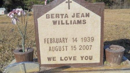 WILLIAMS, BERTA JEAN - Calhoun County, Arkansas   BERTA JEAN WILLIAMS - Arkansas Gravestone Photos