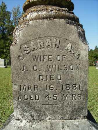 WILSON, SARAH A (CLOSEUP) - Calhoun County, Arkansas | SARAH A (CLOSEUP) WILSON - Arkansas Gravestone Photos