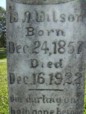 WILSON, W A (CLOSEUP) - Calhoun County, Arkansas   W A (CLOSEUP) WILSON - Arkansas Gravestone Photos