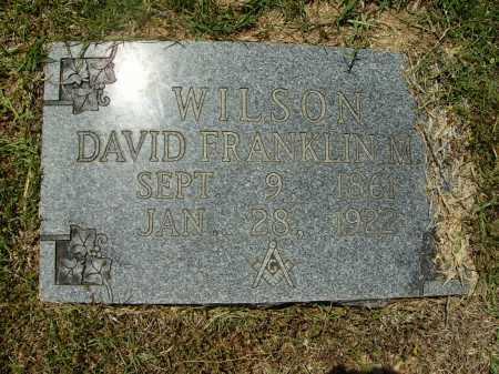 WILSON, DAVID FRANKLIN - Calhoun County, Arkansas | DAVID FRANKLIN WILSON - Arkansas Gravestone Photos