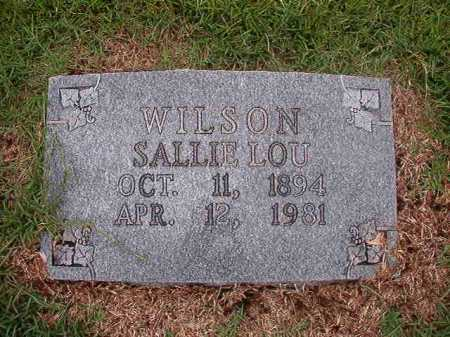 WILSON, SALLIE LOU - Calhoun County, Arkansas | SALLIE LOU WILSON - Arkansas Gravestone Photos
