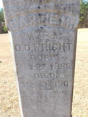 WRIGHT, CARRIE M - Calhoun County, Arkansas   CARRIE M WRIGHT - Arkansas Gravestone Photos