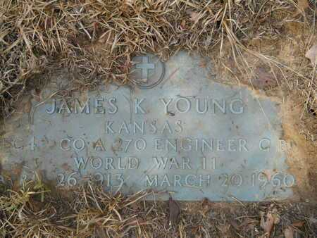 YOUNG (VETERAN WWII), JAMES K - Calhoun County, Arkansas | JAMES K YOUNG (VETERAN WWII) - Arkansas Gravestone Photos