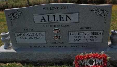 DEEDS ALLEN, LOU ETTA - Carroll County, Arkansas | LOU ETTA DEEDS ALLEN - Arkansas Gravestone Photos