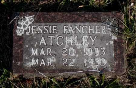 ATCHLEY, JESSIE FANCHER - Carroll County, Arkansas | JESSIE FANCHER ATCHLEY - Arkansas Gravestone Photos