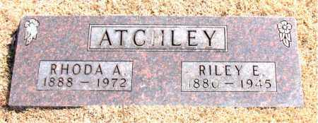 ATCHLEY, RHODA A. - Carroll County, Arkansas | RHODA A. ATCHLEY - Arkansas Gravestone Photos