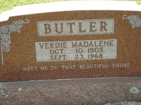 BUTLER, VERDIE - Carroll County, Arkansas   VERDIE BUTLER - Arkansas Gravestone Photos
