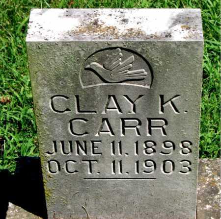 CARR, CLAY K - Carroll County, Arkansas   CLAY K CARR - Arkansas Gravestone Photos