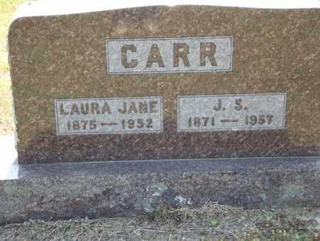 CARR, LAURA JANE - Carroll County, Arkansas | LAURA JANE CARR - Arkansas Gravestone Photos