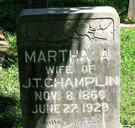 CHAMPLIN, MARTHA  A. - Carroll County, Arkansas   MARTHA  A. CHAMPLIN - Arkansas Gravestone Photos