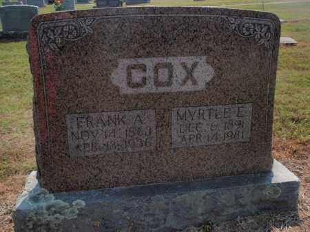 COX, MYRTLE E - Carroll County, Arkansas   MYRTLE E COX - Arkansas Gravestone Photos
