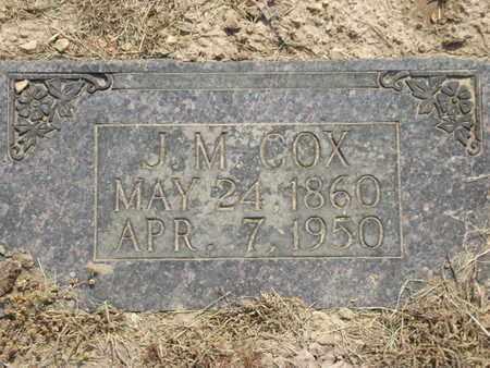 COX, J M - Carroll County, Arkansas | J M COX - Arkansas Gravestone Photos