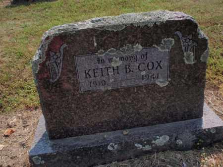 COX, KEITH B - Carroll County, Arkansas | KEITH B COX - Arkansas Gravestone Photos