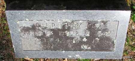 COX, LAURA MAY - Carroll County, Arkansas   LAURA MAY COX - Arkansas Gravestone Photos
