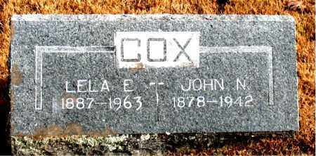 COX, LELA E. - Carroll County, Arkansas | LELA E. COX - Arkansas Gravestone Photos