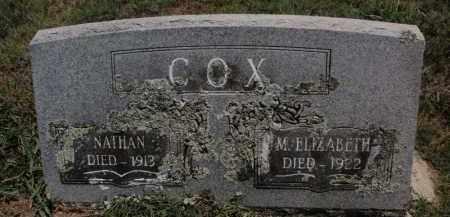 COX, M ELIZABETH - Carroll County, Arkansas | M ELIZABETH COX - Arkansas Gravestone Photos