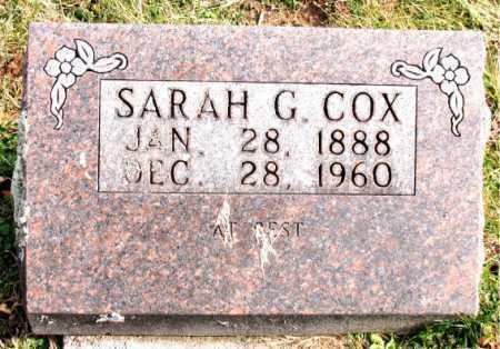 COX, SARAH G. - Carroll County, Arkansas | SARAH G. COX - Arkansas Gravestone Photos