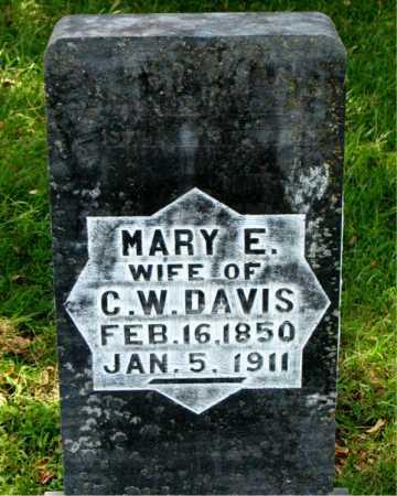 DAVIS, MARY E - Carroll County, Arkansas | MARY E DAVIS - Arkansas Gravestone Photos