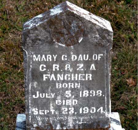 FANCHER, MARY G - Carroll County, Arkansas | MARY G FANCHER - Arkansas Gravestone Photos
