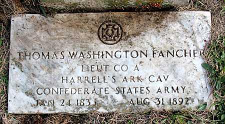 FANCHER  (VETERAN CSA), THOMAS WASHINGTON - Carroll County, Arkansas | THOMAS WASHINGTON FANCHER  (VETERAN CSA) - Arkansas Gravestone Photos