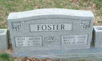 FOSTER, JESSE ALFORD - Carroll County, Arkansas | JESSE ALFORD FOSTER - Arkansas Gravestone Photos
