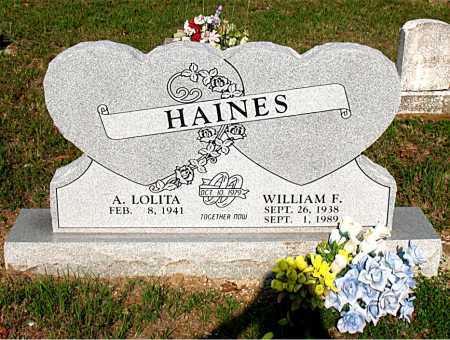 HAINES, WILLIAM F. - Carroll County, Arkansas | WILLIAM F. HAINES - Arkansas Gravestone Photos