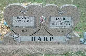 HARP, INA B. - Carroll County, Arkansas | INA B. HARP - Arkansas Gravestone Photos