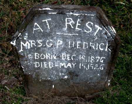 HEDRICK, G.  P., MRS. - Carroll County, Arkansas | G.  P., MRS. HEDRICK - Arkansas Gravestone Photos