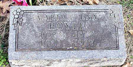 HOYLE, MARTHA  ENA - Carroll County, Arkansas   MARTHA  ENA HOYLE - Arkansas Gravestone Photos