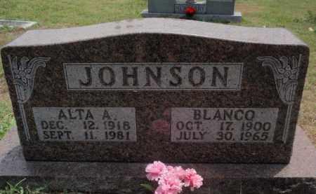 JOHNSON, ALTA A - Carroll County, Arkansas | ALTA A JOHNSON - Arkansas Gravestone Photos