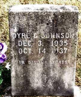 JOHNSON, DYRL G - Carroll County, Arkansas | DYRL G JOHNSON - Arkansas Gravestone Photos