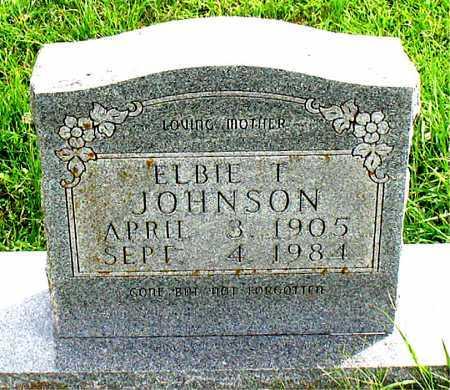 JOHNSON, ELBIE T - Carroll County, Arkansas | ELBIE T JOHNSON - Arkansas Gravestone Photos