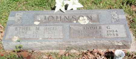JOHNSON, HOMER G - Carroll County, Arkansas | HOMER G JOHNSON - Arkansas Gravestone Photos