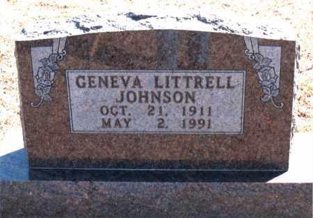 JOHNSON, GENEVA LITTRELL - Carroll County, Arkansas | GENEVA LITTRELL JOHNSON - Arkansas Gravestone Photos