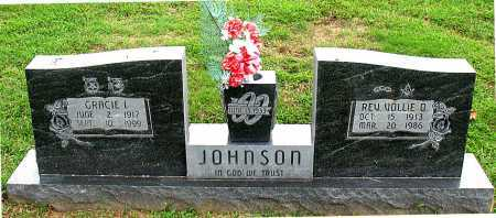 JOHNSON, VOLLIE  O., REV. - Carroll County, Arkansas | VOLLIE  O., REV. JOHNSON - Arkansas Gravestone Photos