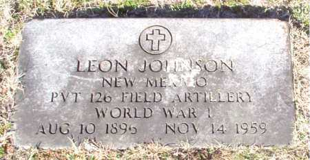 JOHNSON (VETERAN WWI), LEON - Carroll County, Arkansas | LEON JOHNSON (VETERAN WWI) - Arkansas Gravestone Photos