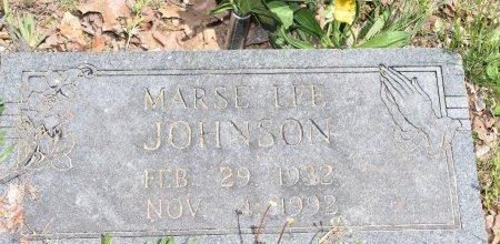 JOHNSON, MARSE LEE - Carroll County, Arkansas | MARSE LEE JOHNSON - Arkansas Gravestone Photos