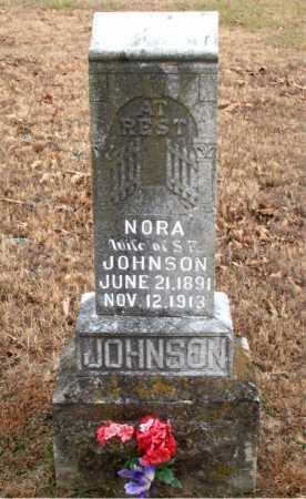 JOHNSON, NORA - Carroll County, Arkansas | NORA JOHNSON - Arkansas Gravestone Photos