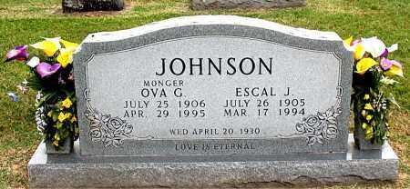 JOHNSON, OVA  G. - Carroll County, Arkansas | OVA  G. JOHNSON - Arkansas Gravestone Photos