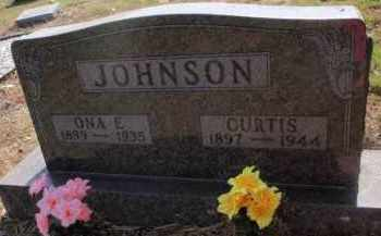 JOHNSON, ONA E - Carroll County, Arkansas   ONA E JOHNSON - Arkansas Gravestone Photos