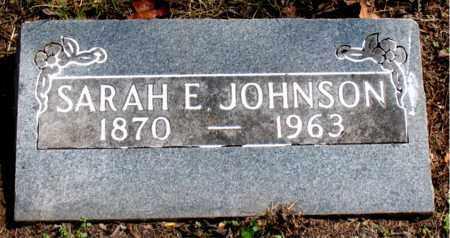 JOHNSON, SARAH E - Carroll County, Arkansas | SARAH E JOHNSON - Arkansas Gravestone Photos