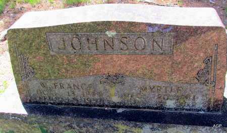 JOHNSON, MYRTLE - Carroll County, Arkansas   MYRTLE JOHNSON - Arkansas Gravestone Photos
