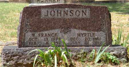 JOHNSON, W. FRANCE - Carroll County, Arkansas | W. FRANCE JOHNSON - Arkansas Gravestone Photos