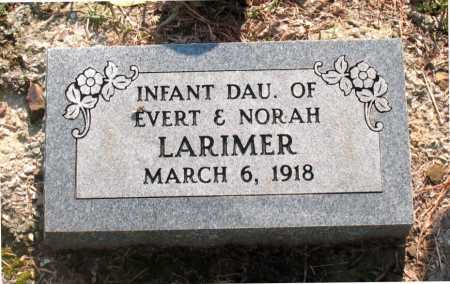 LARIMER, INFANT DAUGHTER - Carroll County, Arkansas   INFANT DAUGHTER LARIMER - Arkansas Gravestone Photos