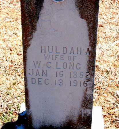 LONG, HULDAH A. - Carroll County, Arkansas | HULDAH A. LONG - Arkansas Gravestone Photos