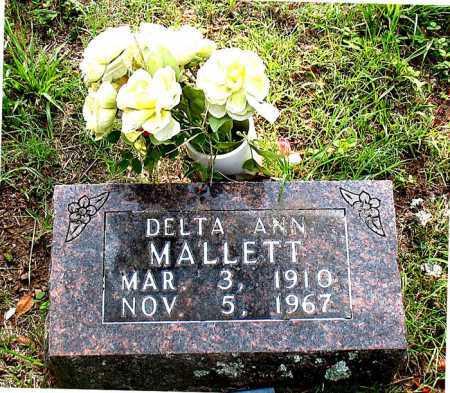 MALLETT, DELTA ANN - Carroll County, Arkansas | DELTA ANN MALLETT - Arkansas Gravestone Photos